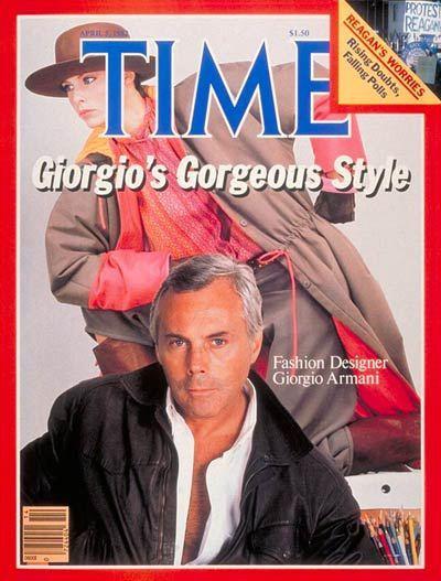 Giorgio Armani:时代杂志封面上的Armani先生