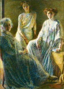 U. Boccioni: dipinto del 1909-1910, Collezione Intesa San Paolo, Gallerie d'Italia, in Piazza Scala, Milano