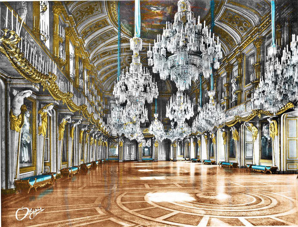 Sala delle Cariatidi nel suo splendore