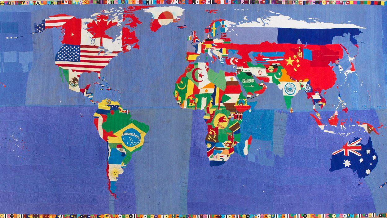 Arte: Alighiero Boetti è Minimum/Maximum a Venezia, Mappa
