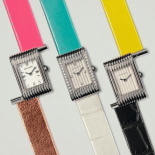 moda: la maison boucheron celebra i 70 anni dell'orologio reflet. cinturino colori tenui