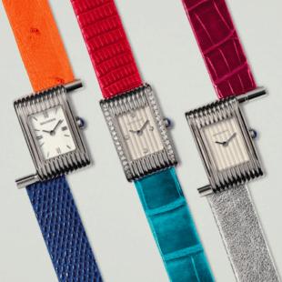 moda: la maison boucheron celebra i 70 anni dell'orologio reflet. cinturini colori forti