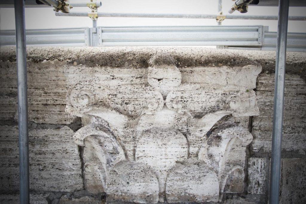 Arte: Tod's ed il restauro del Colosseo. Il dettaglio di un capitello.