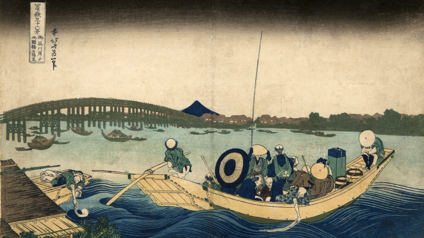 arte: hokusai: sulle orme del maestro all'ara pacis di roma. silografia policroma