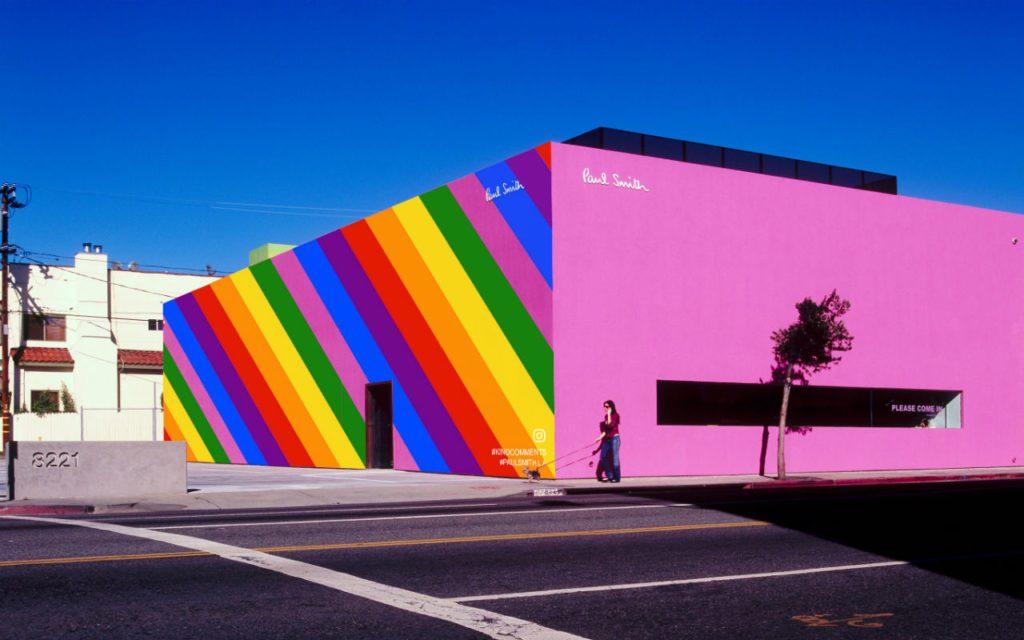 Moda: La passerella di Paul Smith P/E 2018. La facciata dello store a Los Angeles