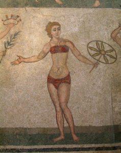 Moda: Ombelico in vista: buon compleanno Bikini! Un mosaico romano di Villa del Casale, a Piazza Armerina