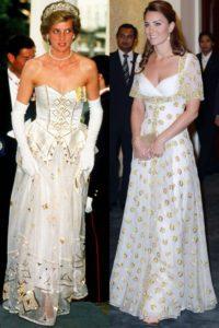 Moda: Lady Diana è ancora un'icona di stile. Oro e bianco sia per Diana che per Kate