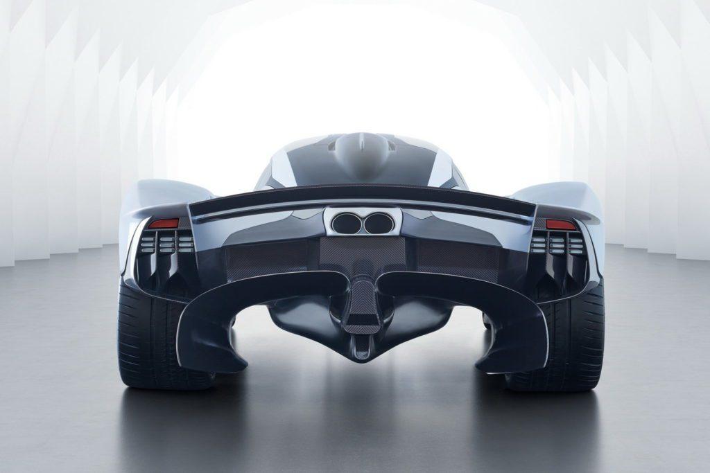 Motori: Aston Martin Valkyrie, la F1 da strada. Il retro dell'auto