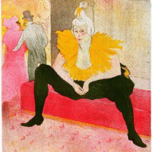 arte: toulouse-lautrec-a-palazzo-reale-milano.donna pagliaccio seduta