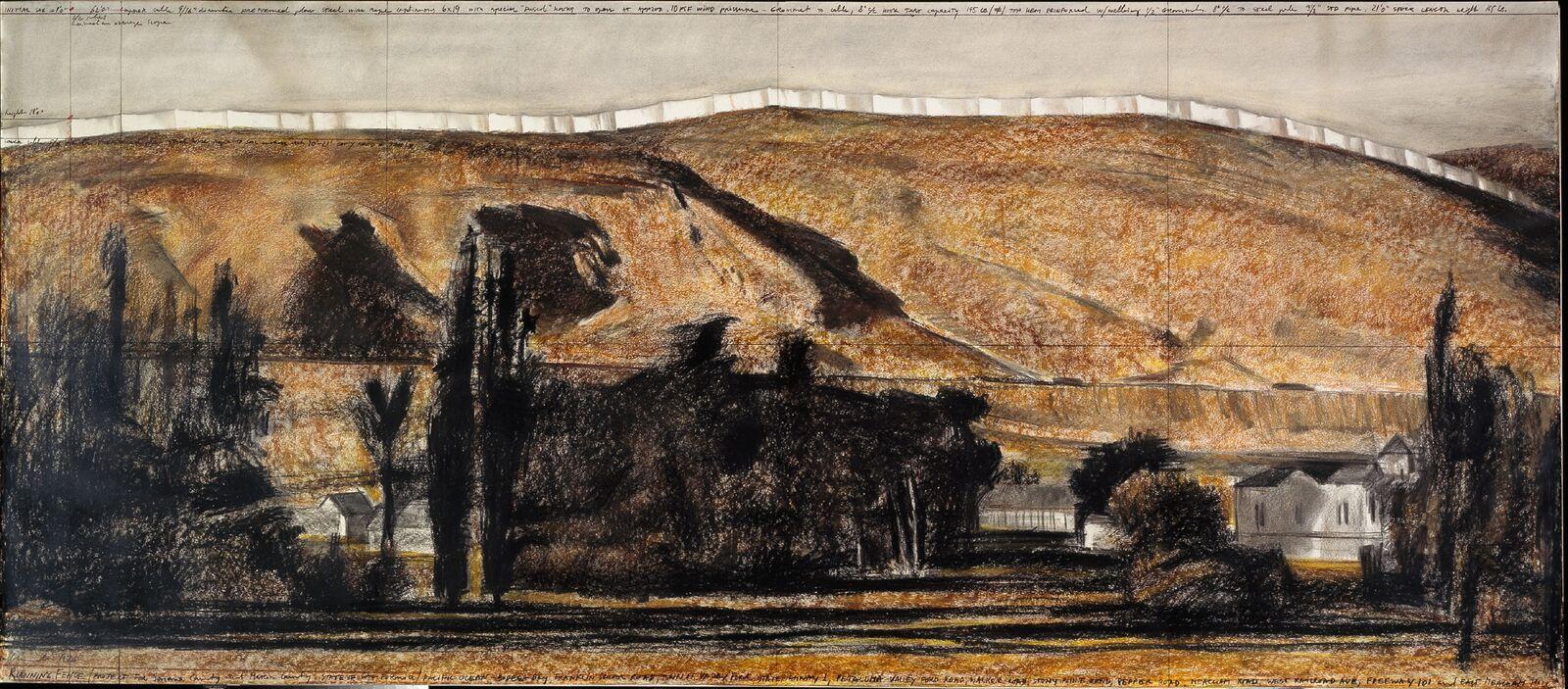 mam-e arte COLLEZIONE LUIGI E PEPPINO AGRATI A MILANO Christo-Running Fence-1976_preview