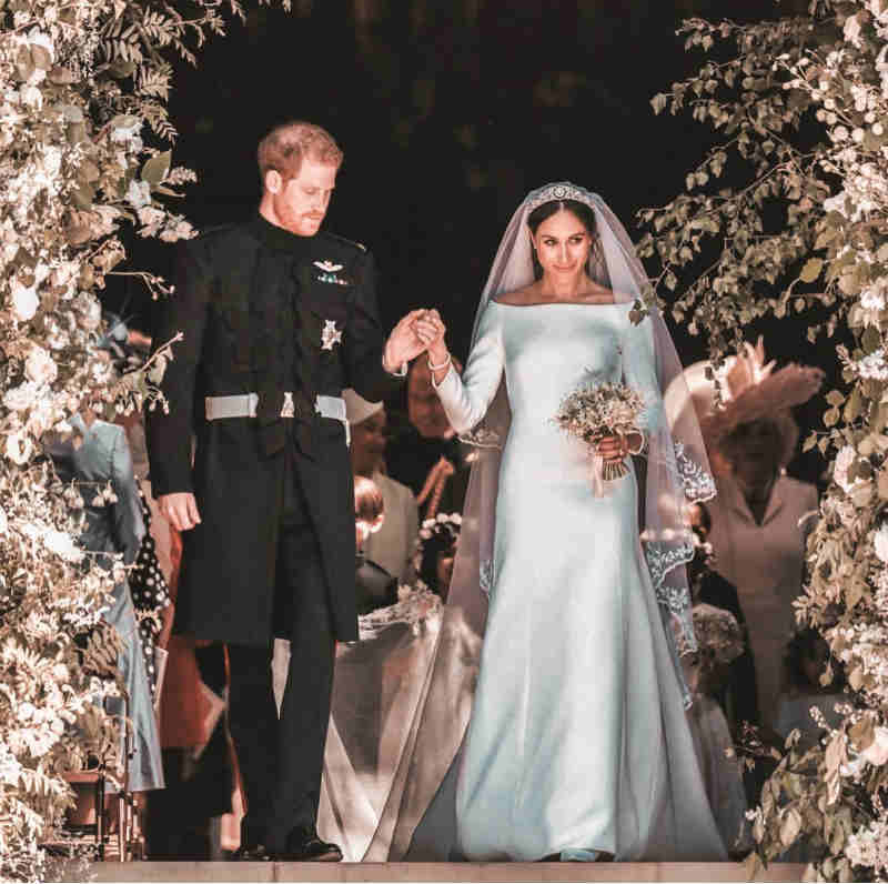 Mame Moda auguri a Meghan Markle e al principe Harry, oggi sposi. Wedding dress Givenchy