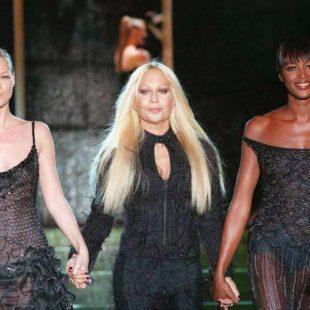 Mame Moda Happy birthday madame Donatella Versace. Donatella, Kate Moss e Naomi Campbell