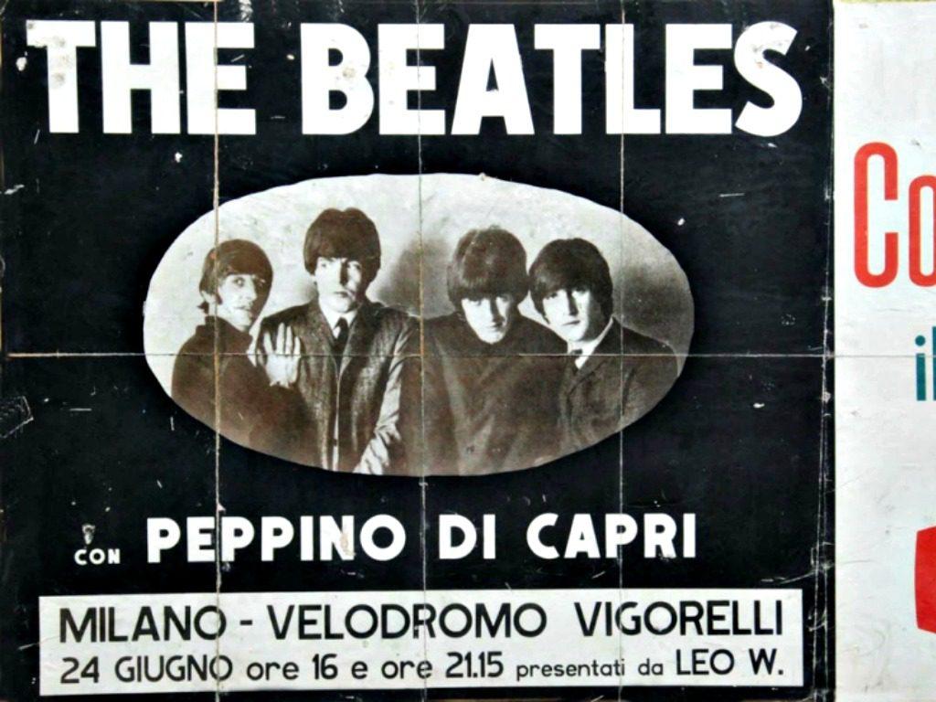 mam-e lifestyle 24 GIUGNO 1965 I BEATLES PER LA PRIMA VOLTA IN ITALIA locandina