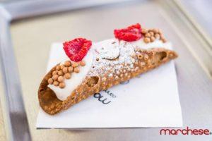 mame food MARCHESE ON WHEELS - CANNOLI SU QUATTRO RUOTE lampone e caramello salato