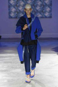 Mame Moda Fumito Ganryu, la sfilata a Pitti Uomo 94. Look streetwear