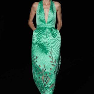 Mame Moda Sylvio Giardina, lezione di alta moda ad AltaRoma. Abito con cuciture