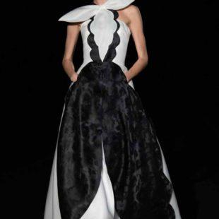 Mame Moda Sylvio Giardina, lezione di alta moda ad AltaRoma. Abito corolla
