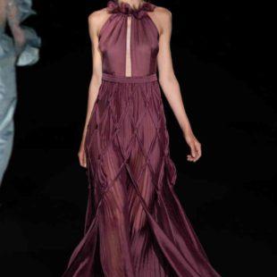 Mame Moda Sylvio Giardina, lezione di alta moda ad AltaRoma. Abito plissettato