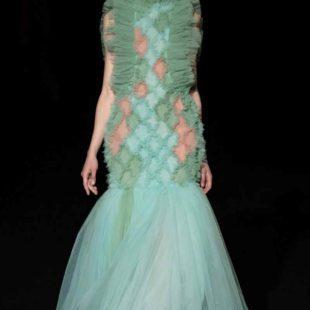 Mame Moda Sylvio Giardina, lezione di alta moda ad AltaRoma. Abito in tulle