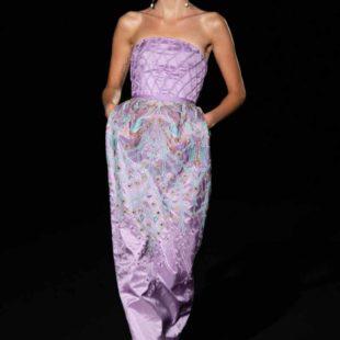 Mame Moda Sylvio Giardina, lezione di alta moda ad AltaRoma. Abito ricamato