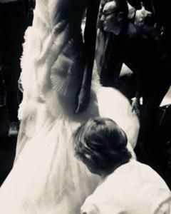 Mame Moda Sylvio Giardina, lezione di alta moda ad AltaRoma. Backstage