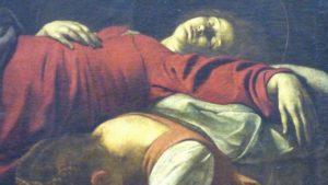 mam-e arte CARAVAGGIO - L'ARTISTA DALL'ANIMO IRREQUIETO morte vergine
