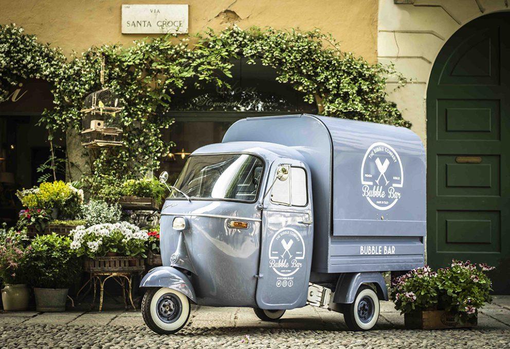 BUBBLE BAR – IL PRIMO WINE BAR ITALIANO SU TRE RUOTE