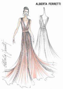 Mame moda #ferragnez Alberta Ferretti veste le damigelle. Abito damigelle