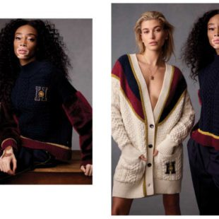 Mame Moda Tommy Icons, la capsule collection Tommy Hilfiger. Pullover maniche faux fur