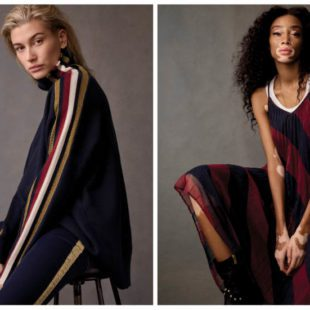 Mame Moda Tommy Icons, la capsule collection Tommy Hilfiger. Abito lungo