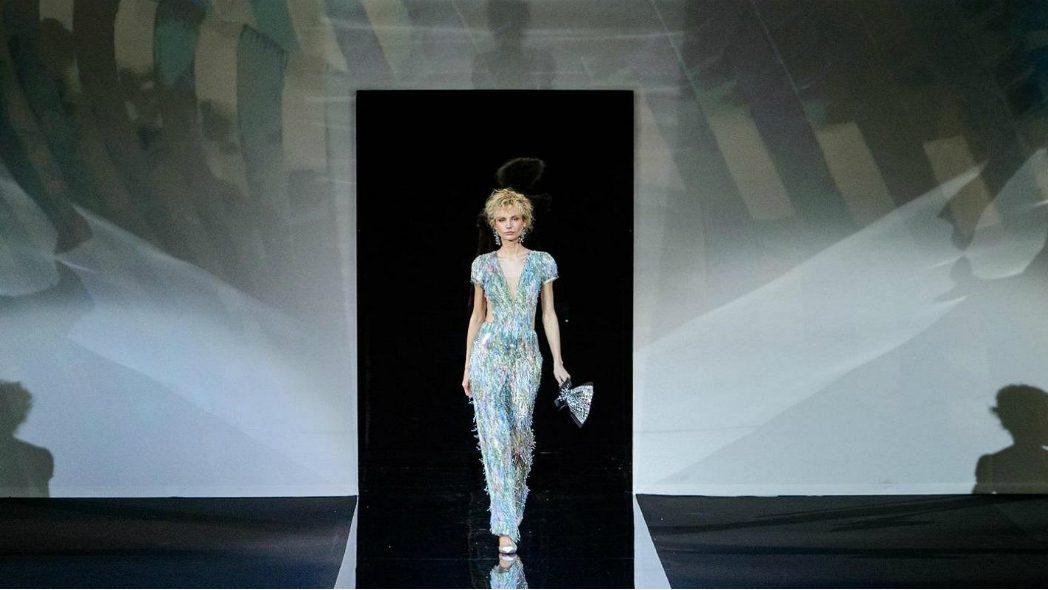 mame moda giorgio armani ss19, la collezione caleidoscopica. Look sparkling