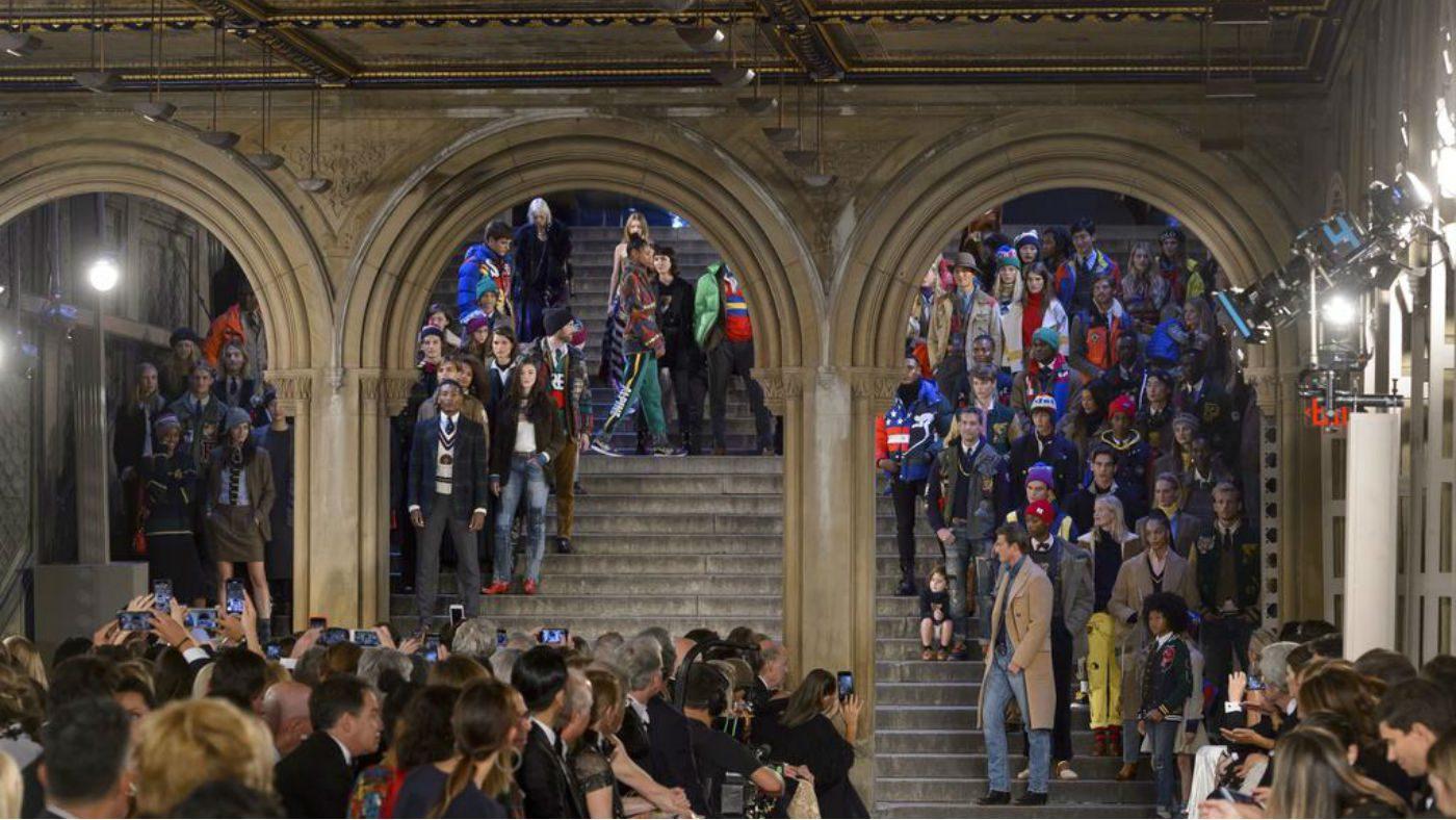 Mame Moda Ralph Lauren 50 anni festeggiati al Central Park. Alcuni look dell'evento