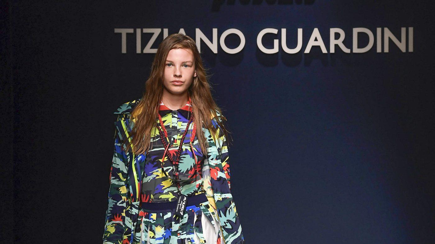 Mame Moda Tiziano Guardini l'eco si fa sporty alla MFW. Look SS19 Tiziano Guardini