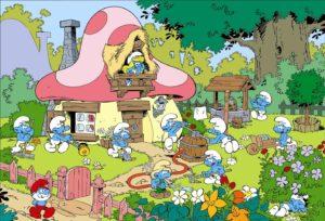 mame spettacolo I PUFFI - IL DEBUTTO IL 12 SETTEMBRE 1981 foresta