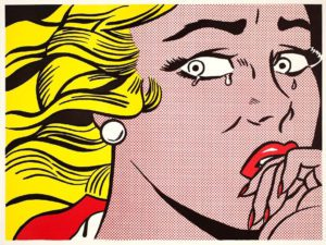 Mame arte POP ART: LICHTENSTEIN, WARHOL E GLI ALTRI GRANDI MAESTRI crying girl