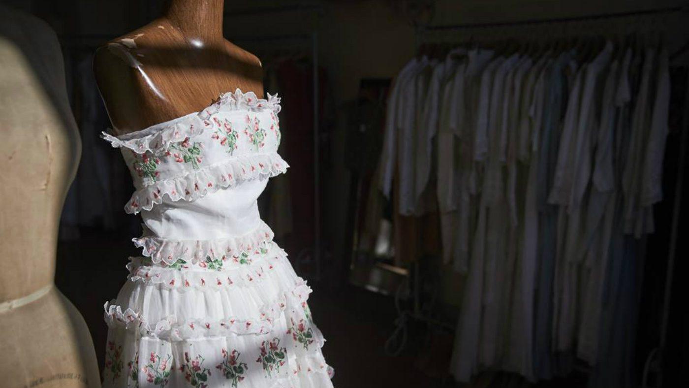 Mame Moda Next Vintage, a Pavia il meglio del vintage. Abito in cotone con ricami