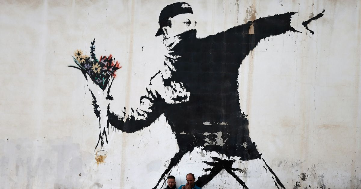 Mame arte A VISUAL PROTEST. THE ART OF BANKSY flower Thrower