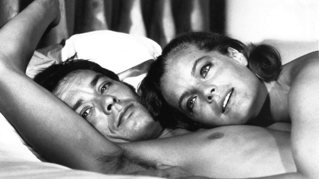 Alain Delon - Tutte le sue donne. Una foto di lui e Romy Schneider insieme.
