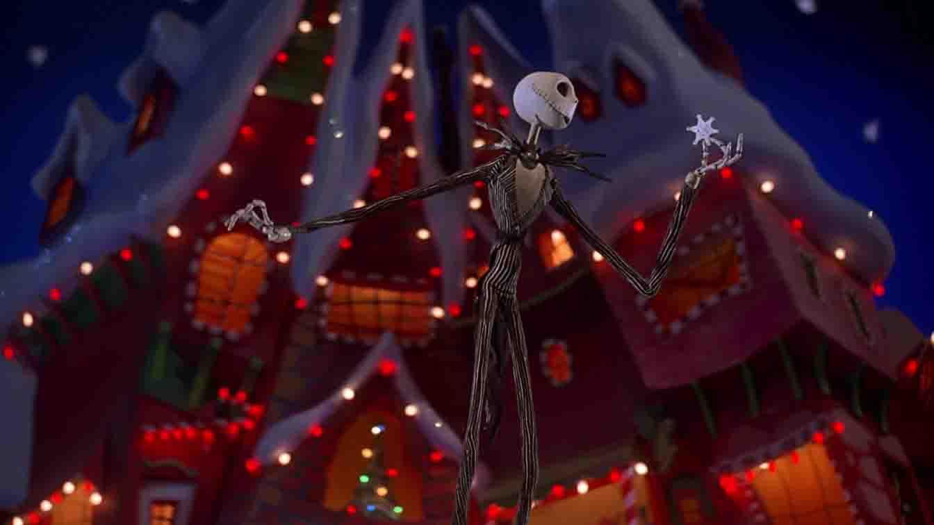 una foto del protagonista di nightmare before christmas un classico per un natale in famiglia