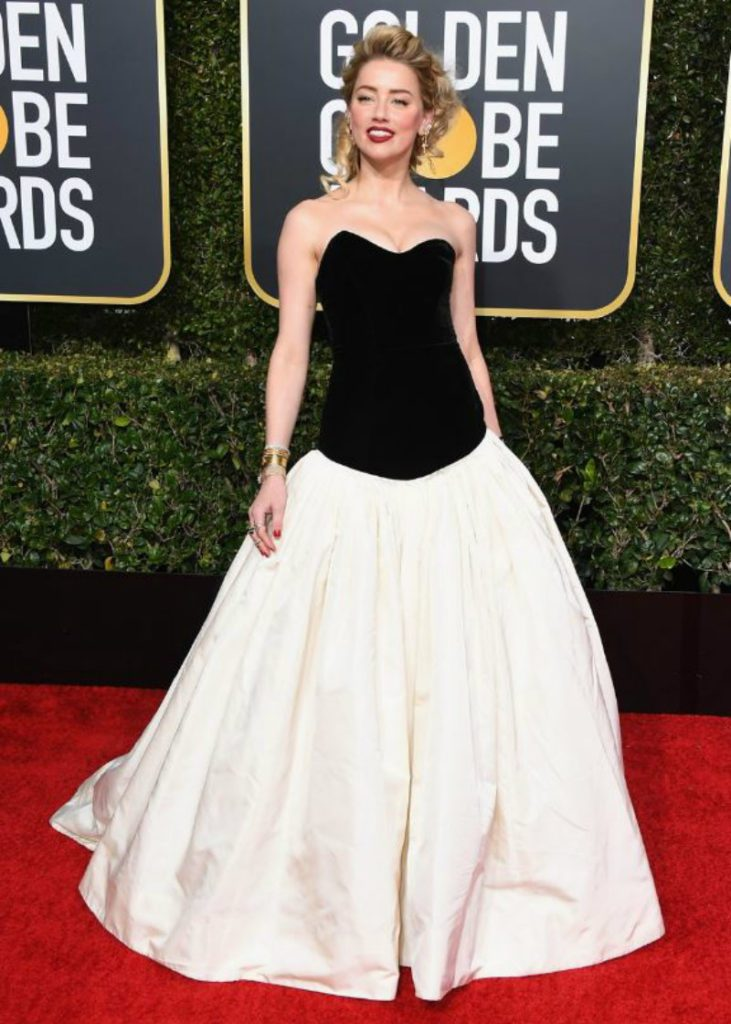 Golden Globe 2019, i look del red carpert. Amber Valletta