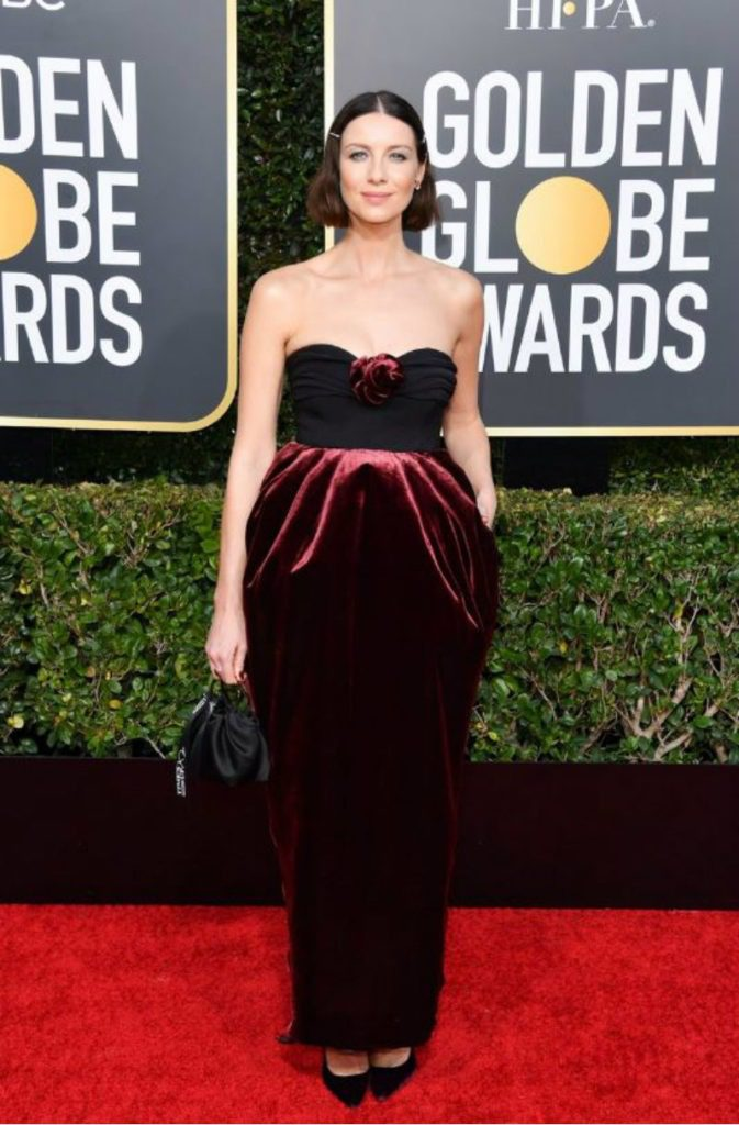 Golden Globe 2019, i look del red carpert. caitriona balfe