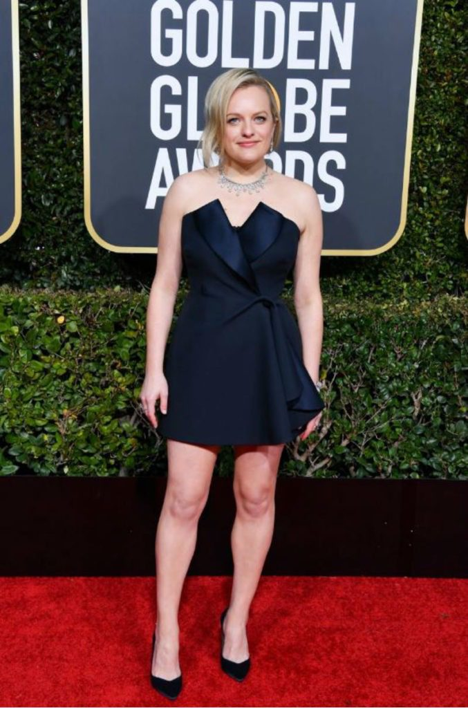 Golden Globe 2019, i look del red carpert. Elisabeth Moss