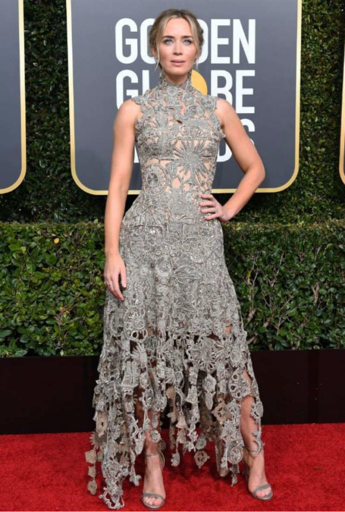 Golden Globe 2019, i look del red carpert. Emily Blunt