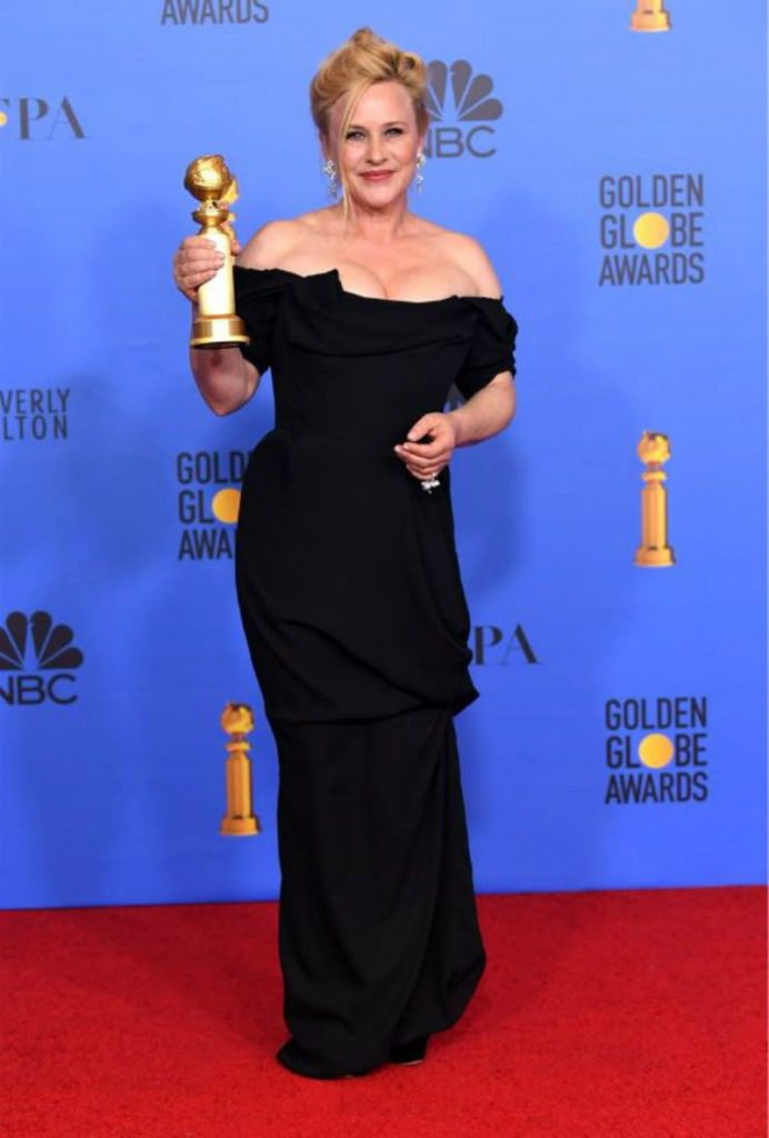 Golden Globe 2019, i look del red carpert. Patricia Arquette