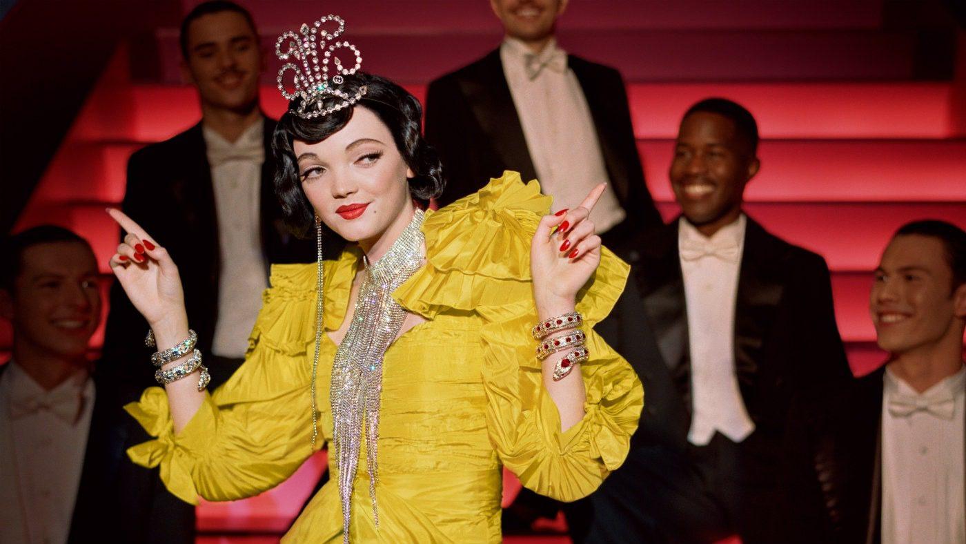 GucciShowTime, l'adv Gucci che omaggia il Musical. Look anni '40