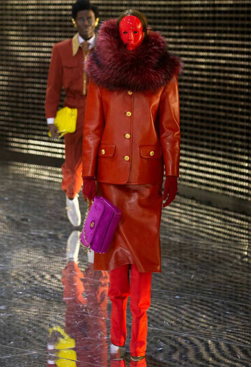 Maschere e tailoring, il resoconto della MFW. Tailleur Gucci FW19
