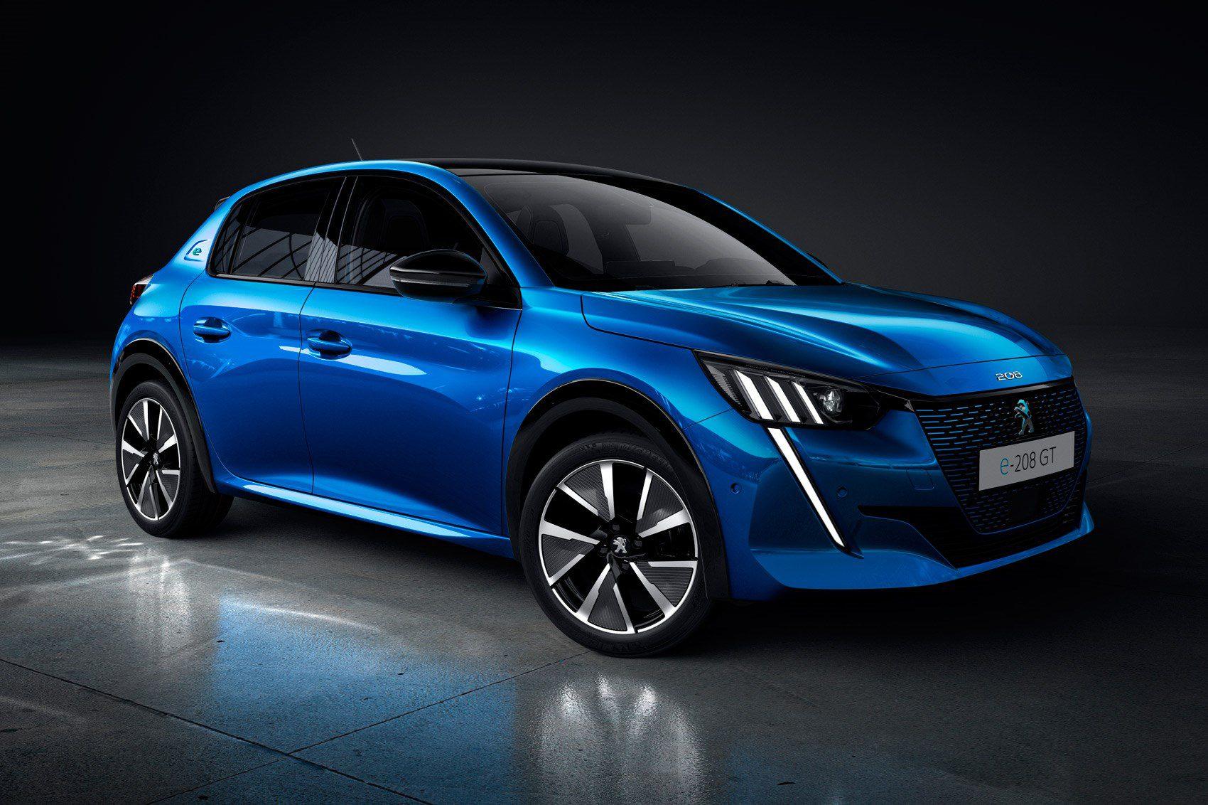 nuova Peugeot 208 e l'elettrica e-208