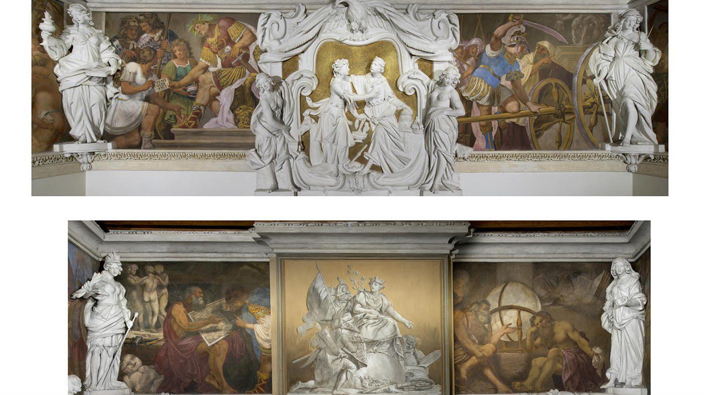 Vicenza, la mostra sul mito alle Gallerie d'Italia. Dettaglio interno del Palazzo Leoni Montanari