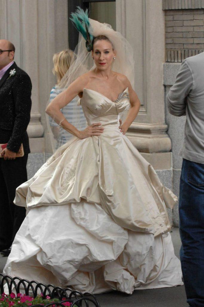Sarah Jessica parker abito sposa Vivienne Westwoos