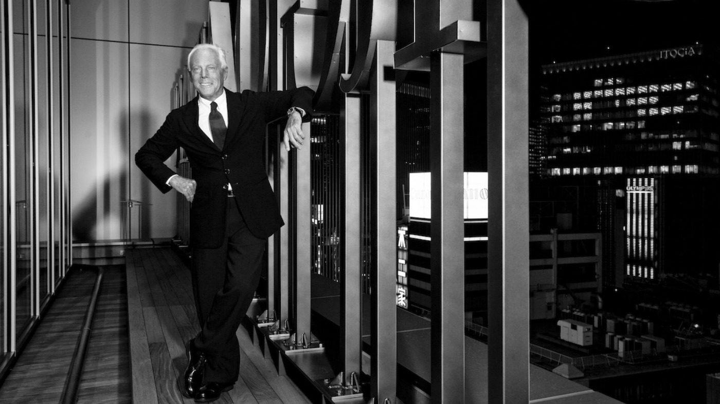 Giorgio Armani Resort 2020. Giorgio Armani portrait